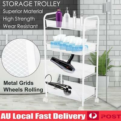 4 Tier Beauty Hairdresser Coloring Hair Salon Trolley Rolling Storage Cart Tool