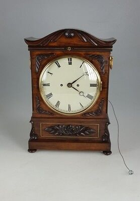 Fine quality Antique Carved Rosewood twin Fusee Bracket Clock