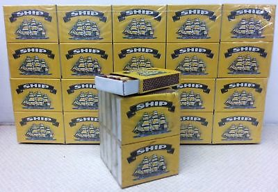 1000 x Boxes Of Ship Safety Matches Candles Camping Cooking 40 Matches Per Box