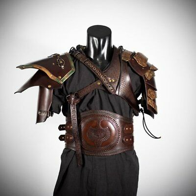 Medieval Leather Full Suit Of Barbarian Armor /Celtic Full Body armor ADAM1