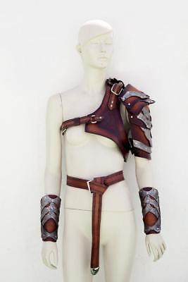 Medieval Leather Full Suit Of Barbarian Armor /Celtic Full Body armor ADAM3
