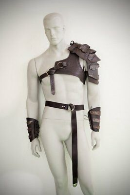 Medieval Leather Full Suit Of Barbarian Armor /Celtic Full Body armor ADAM6