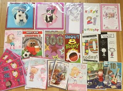 Job Lot 25 Birthday Cards Includes Age 10 18 21 40Tracks, Paperlink, Simon Elvin