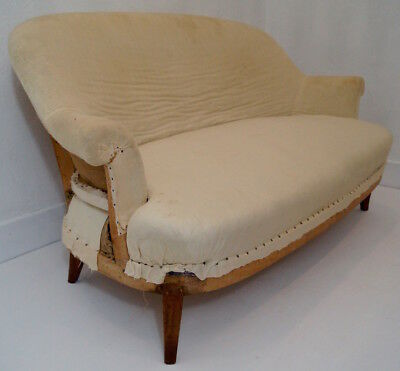 Fabulous Antique French Louis Philippe 2 Seater Settee inc. Reupholstery