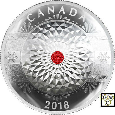 2018 'Classic Holiday Ornament' Crystal Prf $25 Silver Coin 1oz .9999Fine(18292)