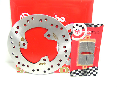 07020Xs Set Brake Disc Brembo Rear + Pads Aprilia Atlantic 125 2005