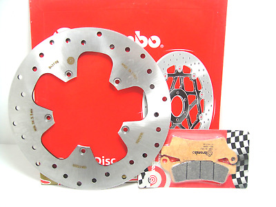 07045Xs Set Brake Disc Brembo Front + Pads Aprilia Atlantic 125 2007