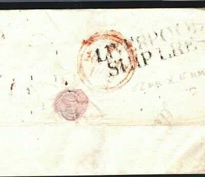 MS548 GB MARITIME Cover 1832 *LIVERPOOL SHIP LRE* Late Re-use 1790s Ship Letter