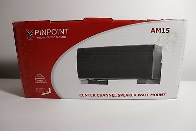 Pinpoint Mount AM15 BLACK Center Channel Speaker Wall Mount New - sealed