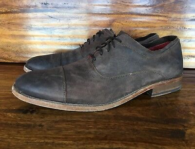 2e726d83baa MENS STEVE MADDEN Lace Up Casual Shoes Burnished Brown Leather EU 44 US 10,  10.5