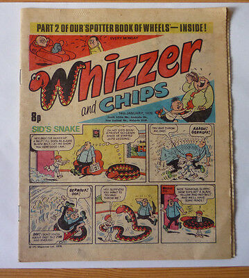 Whizzer And Chips 14 Jan 1978 Issue - British Weekly - Good Condition