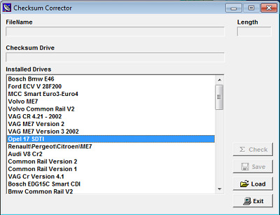 Software Checksum Corrector - correttore di checksum files ecu tuning remapping