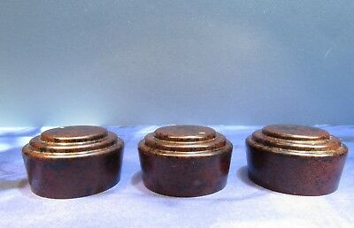 Vintage Knob for Electronic Instrument Radio Lot of 3 Knobs Nice Mottled Look