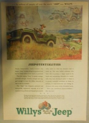 """Willy's Jeep Ad: """"Jeepotentialities"""" from 1945"""