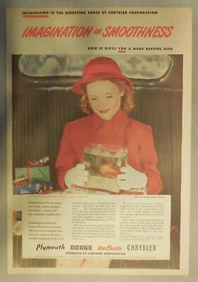 Chrysler  Production Ad: Imagination In Smoothness ! From 1946