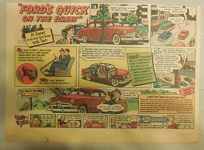 """Ford  Ad: """"Ford's Quick  on the Draw""""  from 1950"""
