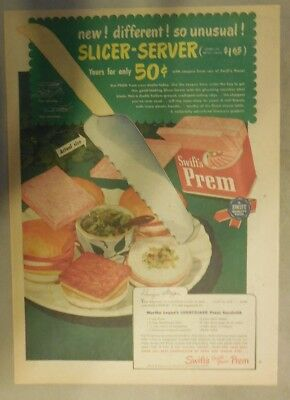 Swift and Company Ad: Swift's Prem Meat Premium from 1940's Size: 11 x 15 inches