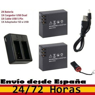 Pack 2 Baterías para NATIONAL GEOGRAPHIC 3.7V 900mAh + Cargador USB Dual. ACTION