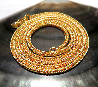 "EXQUISITE FINEST SOLID 22K GOLD HAND WOVEN 2mm CHAIN NECKLACE 22"" 16.93 grams"