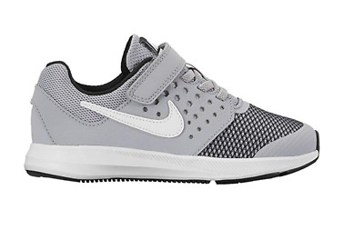 Brand New Nike Downshifter 7 869970-003 Little Kids Boys Shoes Wolf Grey White
