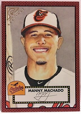 767ee5ad9c0 MANNY MACHADO Baltimore Orioles 2018 Topps Gallery Heritage Orange H-22   18 25