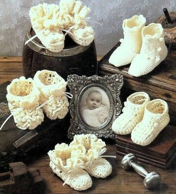 Baby Booties ~ CROCHET Pattern Copy GORGEOUS