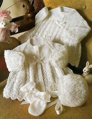 Knitting Pattern copy for Baby Jackets, Bonnet & Mitts 2 & 3 ply
