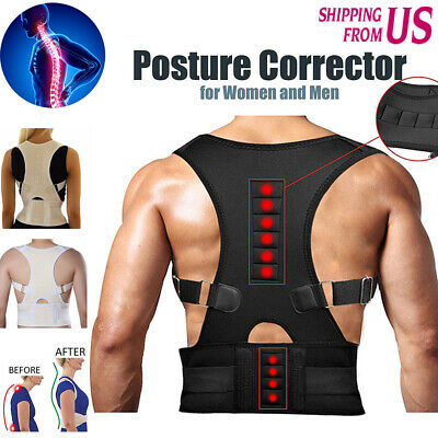 Magnetic Therapy Posture Corrector Shoulder Support Belt Back waist Pain Brace