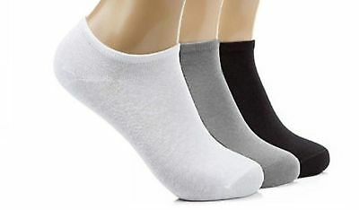 Mens Womens 1 3 6 Pairs Trainer Liner Ankle Cotton Rich Sports Gym causal Socks