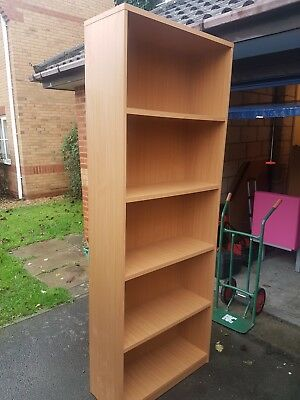 Lovey tall large Beech effect office bookcases, really good quality over 2M high