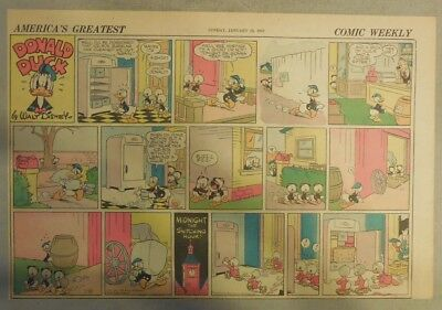 Donald Duck Sunday Page by Walt Disney from 1/18/1942 Half Page Size