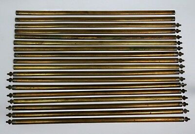 18 Antique Brass Metal Stair Carpet Rods Stays Brackets