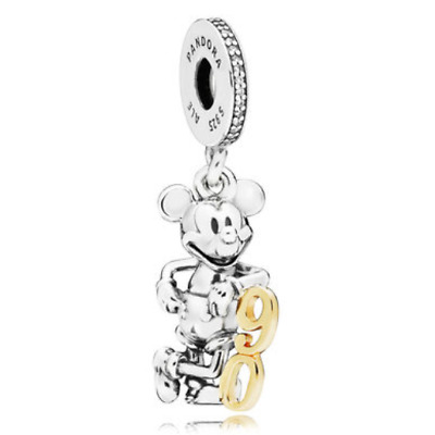Pandora Limited Edition Mickey 90th charm 100% 925 Sterling Silver 797497CZ