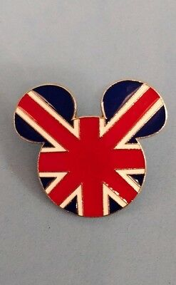 .Disney trade pin LARGE Mickey mouse union jack head  (I COMBINE THE P&P)14