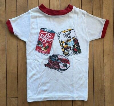 Vintage 70's 80's Wacky Packs Packages Kids T-Shirt Youth 6/7