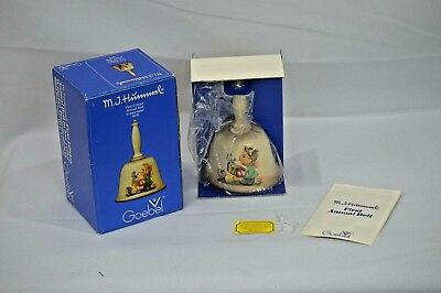 Goebel M.J. Hummel First Edition Annual Bell 1978 in bas relief with Box Germany