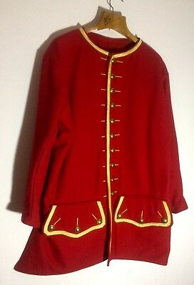 1700's Doctor Surgeon Jacket Handmade UK Gold Braid Wool Dr. Coat Museum Quality
