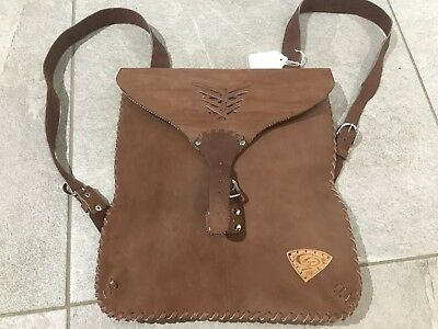 Individual Cuban Arts And Crafts Handmade Leather Bag Rucksack