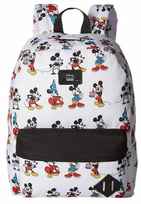 fbba7a6633 NWT VANS Disney Old Skool II BACKPACK School Bag MICKEY TROUGH AGES White  RARE