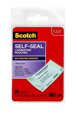 Scotch LS851G Self-Sealing Laminating Pouches, 9.5 mil, 2 7/16 x 3 7/8