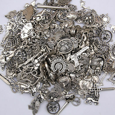 Mixed Lot Antique Tibetan Silver Charms Keys Keychain Pendants DIY Jewelry Craft