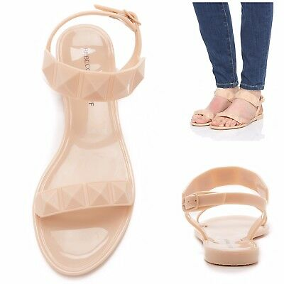 3e2bc826fc0 Rebecca Minkoff Jana Studded Jelly Sandals In Nude Size 10 Womens Flat  Summer