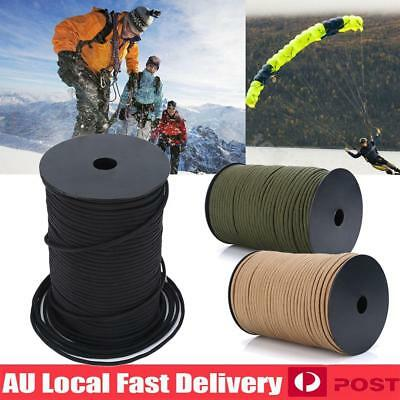 100m Durable 550 Paracord Parachute Cord Rope Lanyard 9 Strand Core Survival AU