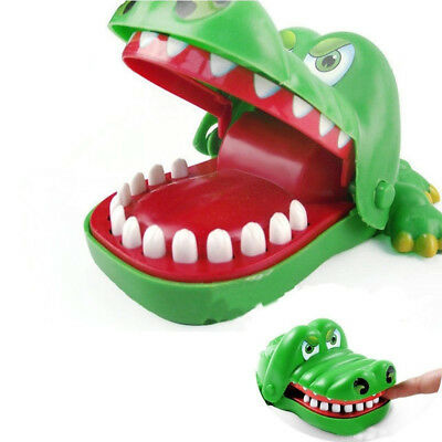 Funny Top Creative Children Kids Crocodile Mouth Dentist Bite Finger Game Toy