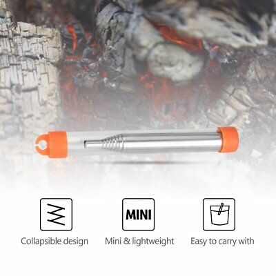 Outdoor Pocket  Collapsible Fire Tools Kit Camping Survival Blow Fire Tube Tool