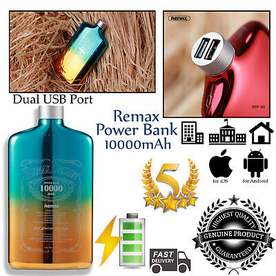Remax 10000mAh Portable dual port Power Bank Battery Charger RPP 90 ORANGE lot