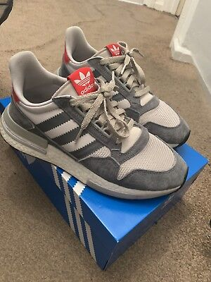 ADIDAS ORIGINALS ZX 500 RM Boost Grey Future White UK 8 9251f9d64