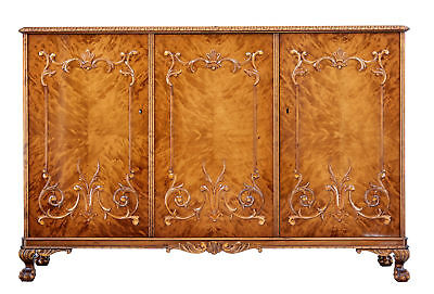 Mid 20Th Century Rococo Inspired Birch Sideboard