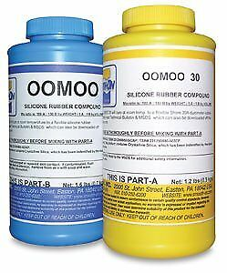 Silicone Mold Making Liquid Rubber OOMOO 30 Easy to Use Trial Size 2.8 lb