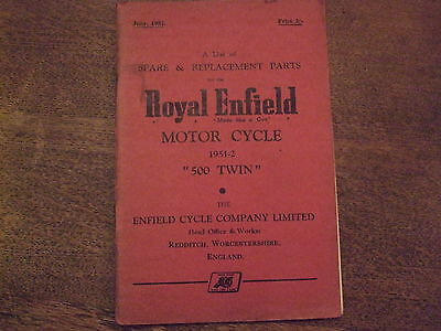 Royal Enfield Meteor 500 Twin Parts Book 1951/2